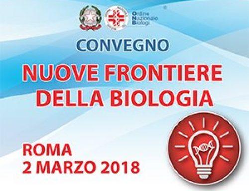 """Convegno """"Nuove Frontiere della Biologia"""" – ONB Roma"""